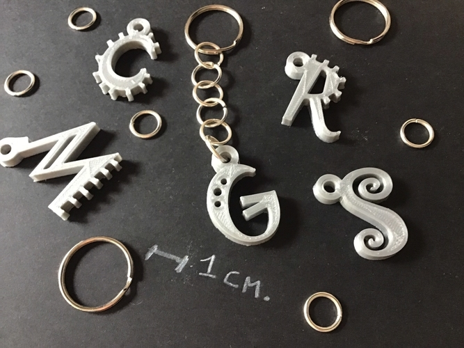3d letters for keychain and more 3D Print 254840