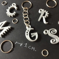 Small 3d letters for keychain and more 3D Printing 254840