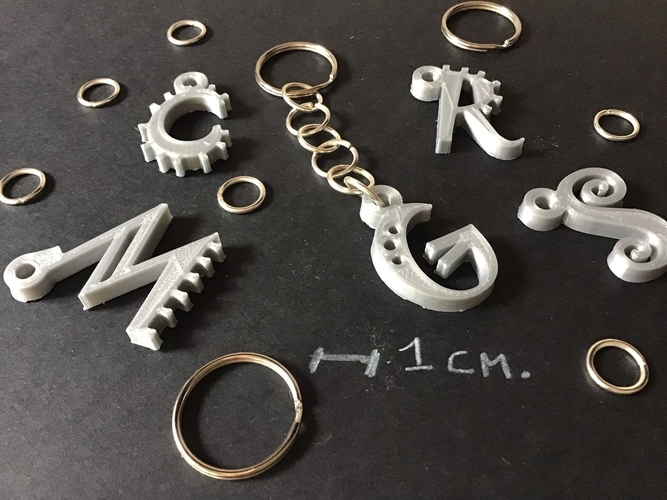 3d letters for keychain and more 3D Print 254841