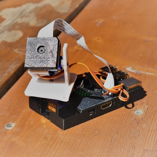 Raspberry Camera Pan Tilt servo 3D Print 254987