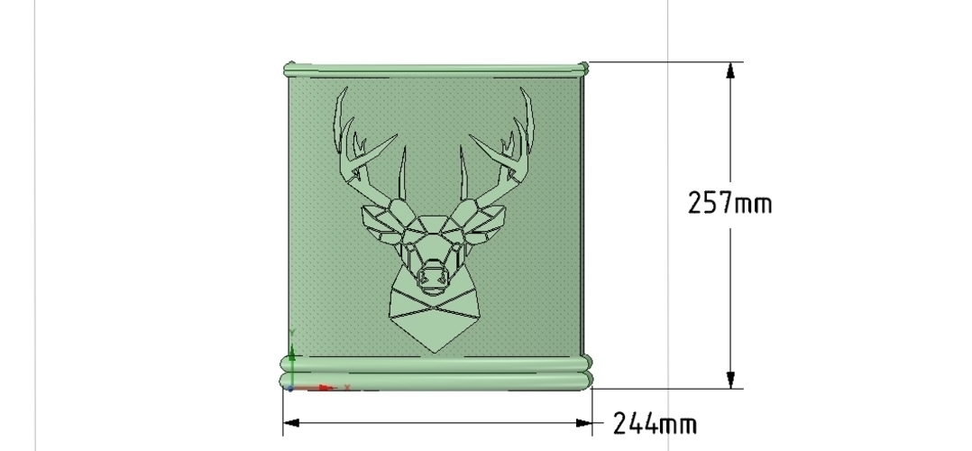 Umbrella wall mount Holder  for real 3D printing and cnc  3D Print 255020