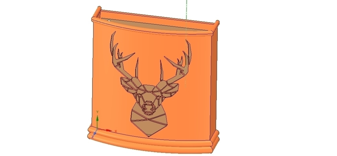 Umbrella wall mount Holder  for real 3D printing and cnc  3D Print 255023