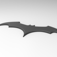 Small 3D printable Batman emblem for cosplay costume 3D Printing 255041