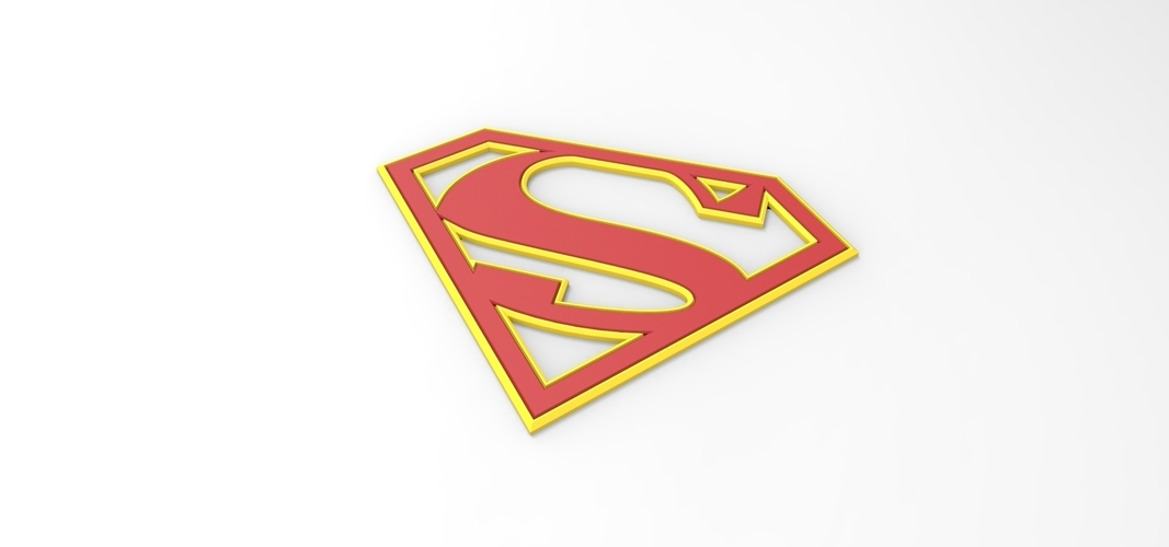 3D printable Supergirl emblem for cosplay costume 3D Print 255049