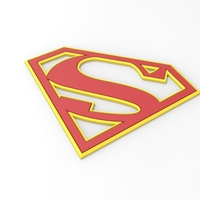 Small 3D printable Supergirl emblem for cosplay costume 3D Printing 255049
