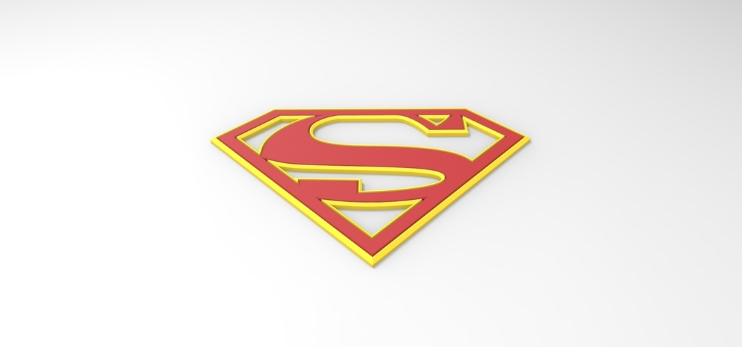 3D printable Supergirl emblem for cosplay costume 3D Print 255051