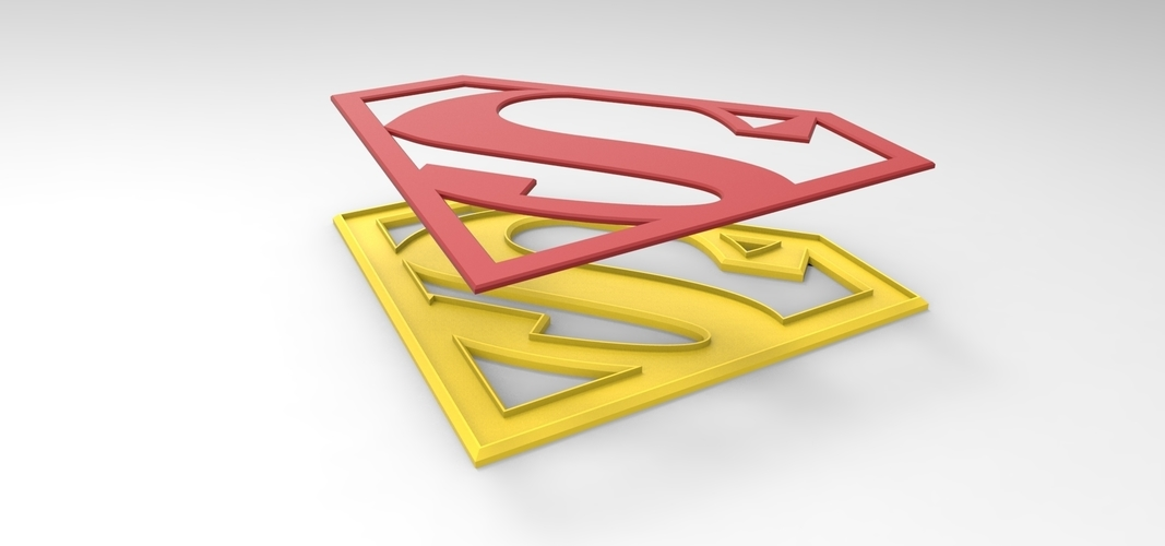 graphic relating to Supergirl Logo Printable named 3D printable Supergirl brand for cosplay gown