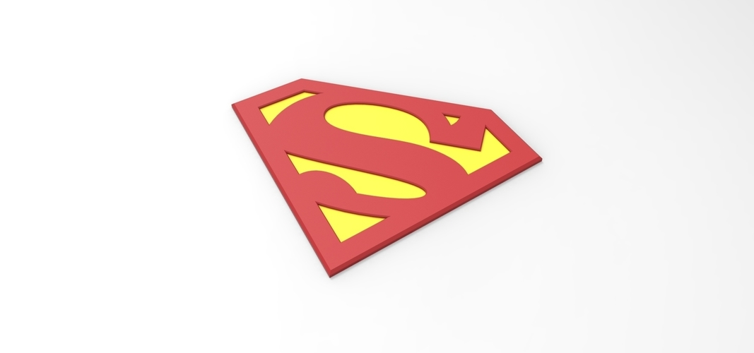 photo regarding Superman Logo Printable identified as 3D printable Superman logo for cosplay dress