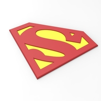 Small 3D printable Superman emblem for cosplay costume 3D Printing 255053