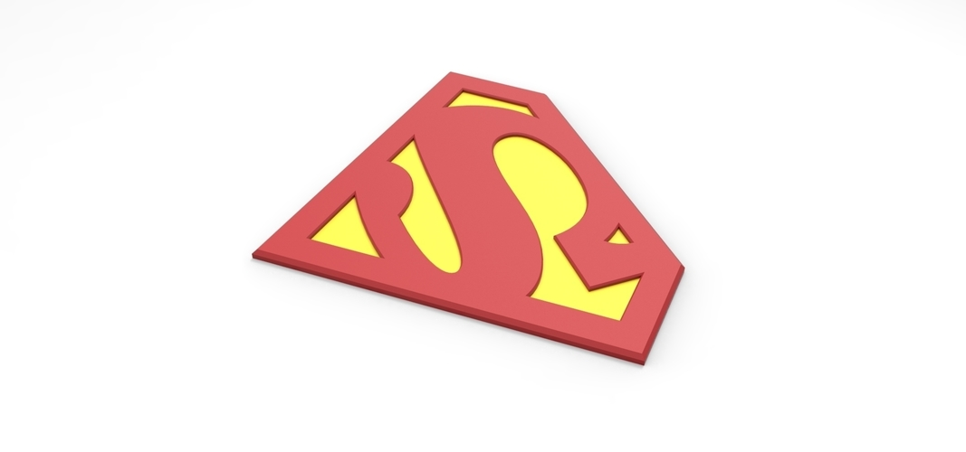 3D printable Superman emblem for cosplay costume 3D Print 255057
