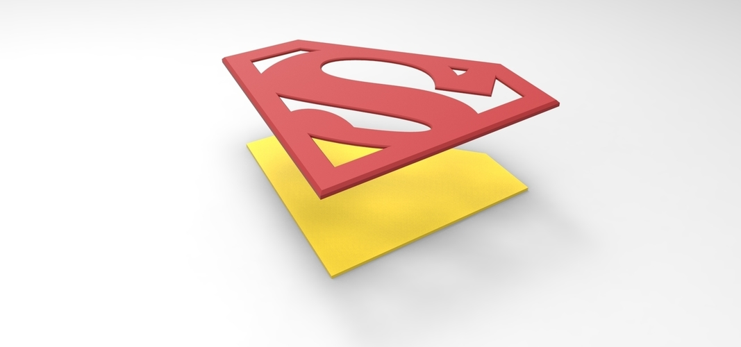 3D printable Superman emblem for cosplay costume 3D Print 255058