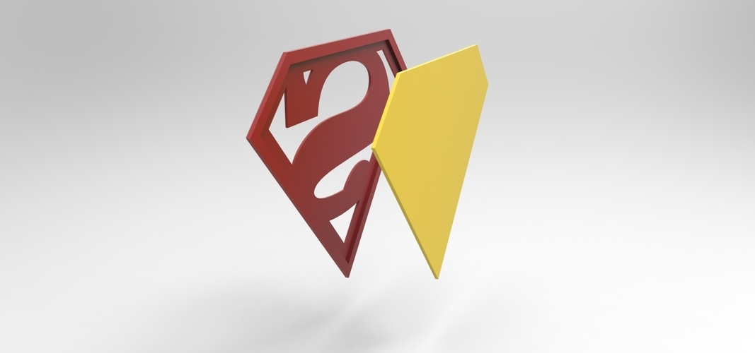3D printable Superman emblem for cosplay costume 3D Print 255059