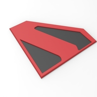 Small 3D printable Kingdom Come Superman emblem for cosplay costume 3D Printing 255060