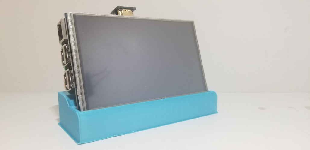 Raspberry Pi & 5in Screen Base Combo 3D Print 255092