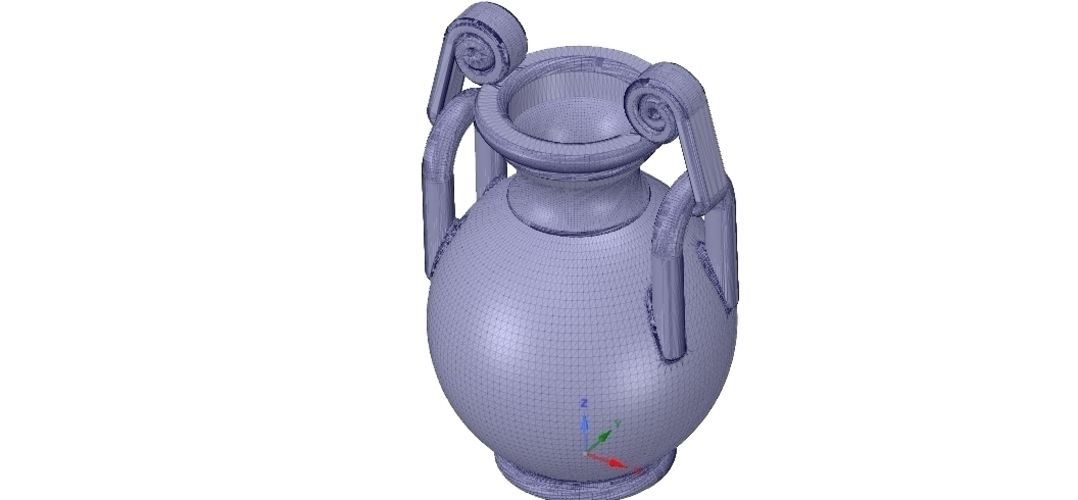 Greek vase amphora cup vessel for 3d-print or cnc 3D Print 255104