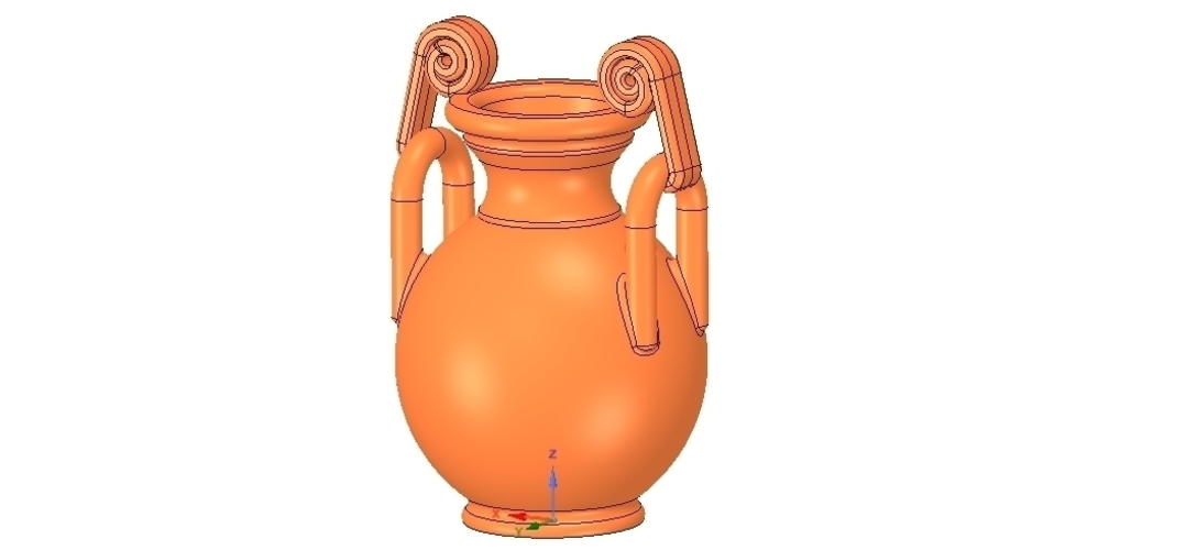 Greek vase amphora cup vessel for 3d-print or cnc 3D Print 255107