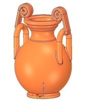Small Greek vase amphora cup vessel for 3d-print or cnc 3D Printing 255107