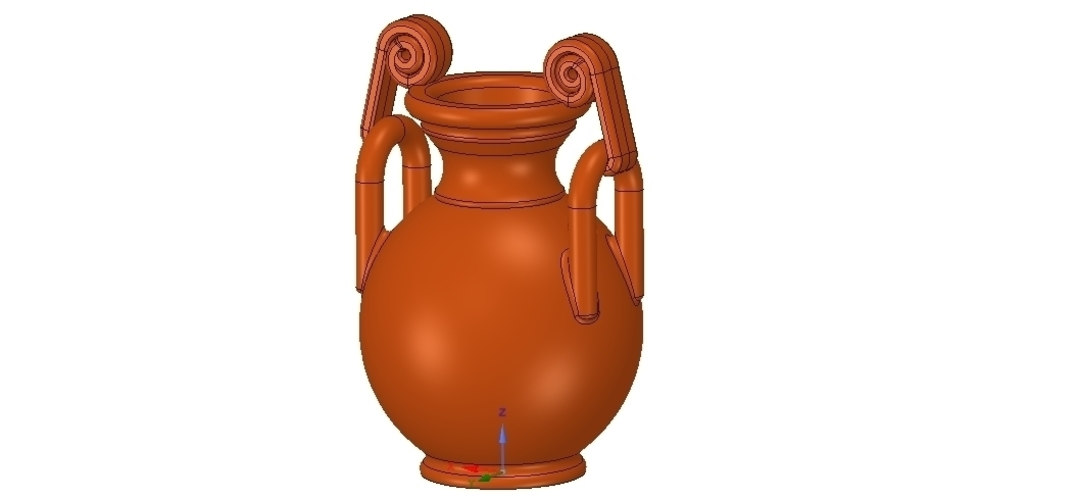 Greek vase amphora cup vessel for 3d-print or cnc 3D Print 255109