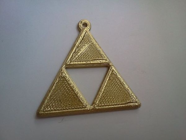 Medium Zelda Triforce keyring 3D Printing 25511