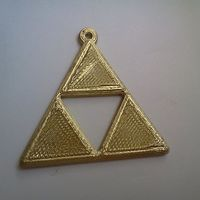Small Zelda Triforce keyring 3D Printing 25511