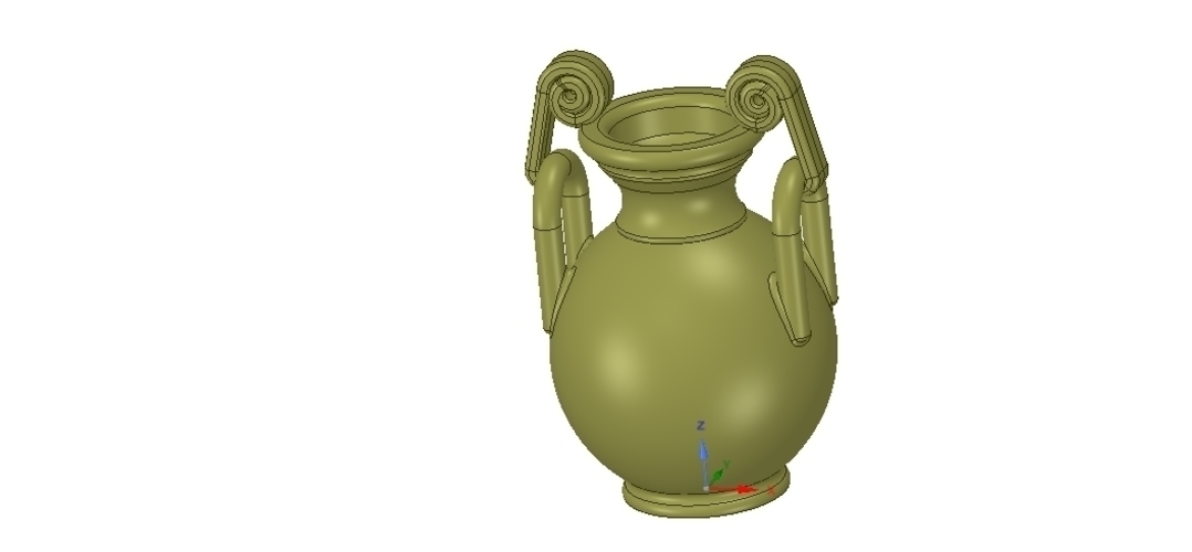 Greek vase amphora cup vessel for 3d-print or cnc 3D Print 255110