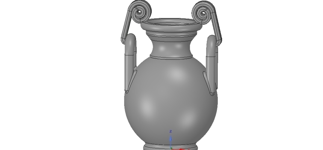 Greek vase amphora cup vessel for 3d-print or cnc 3D Print 255111