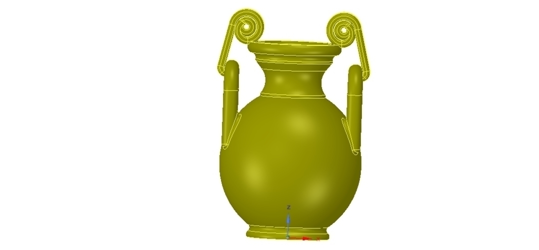 Greek vase amphora cup vessel for 3d-print or cnc 3D Print 255114