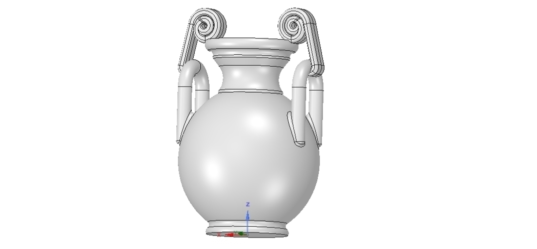 Greek vase amphora cup vessel for 3d-print or cnc 3D Print 255118