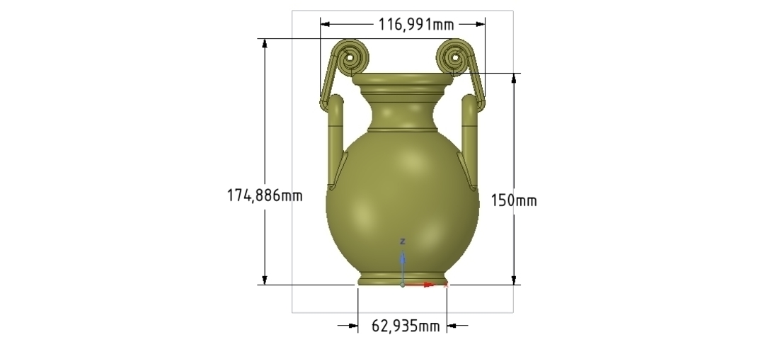 Greek vase amphora cup vessel for 3d-print or cnc 3D Print 255120