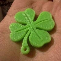 Small Lucky Clover keyring 3D Printing 25514