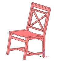 Small solid wood chair with 12 mm bent plywood seat 3D Printing 255189