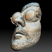 Small Leon killer portrait bas-relief stl 3D Printing 255301