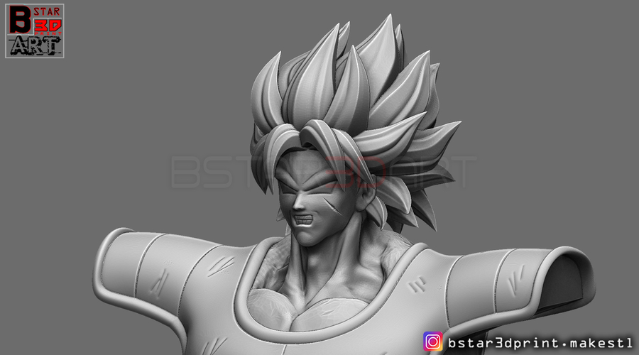 ​Broly Bust - from Broly Movie 2019 3D Print 255419