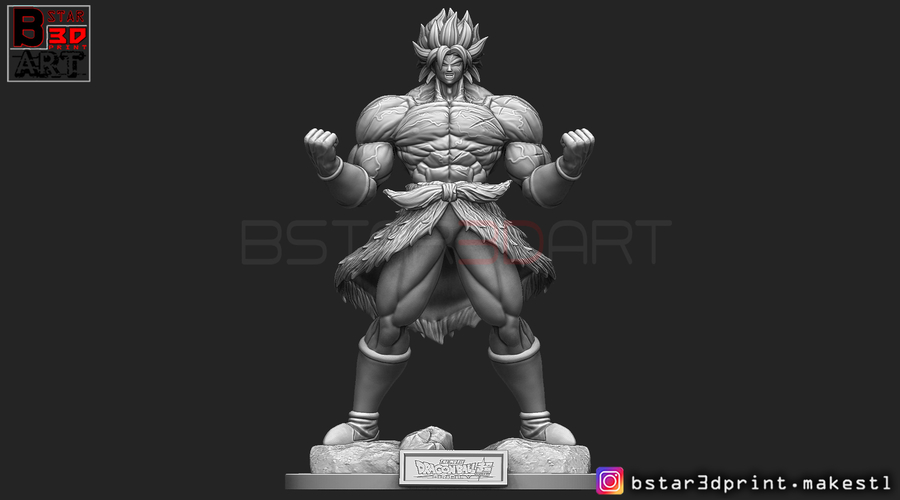 Broly version 01 from Broly movie 2019 3D Print 255422