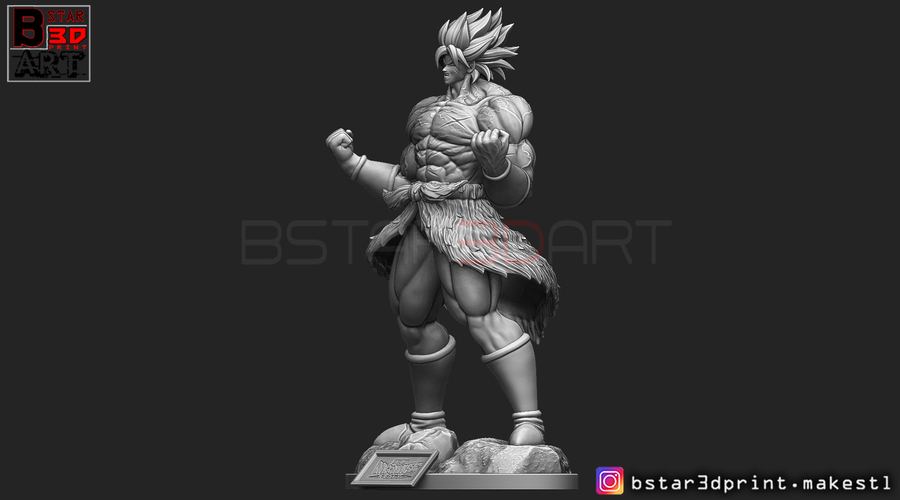 Broly version 01 from Broly movie 2019 3D Print 255423
