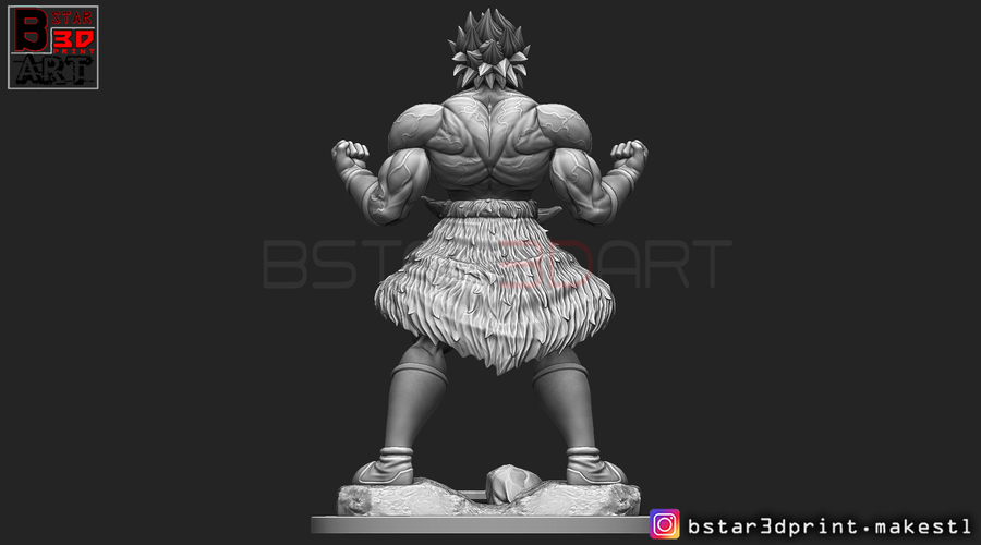 Broly version 01 from Broly movie 2019 3D Print 255425