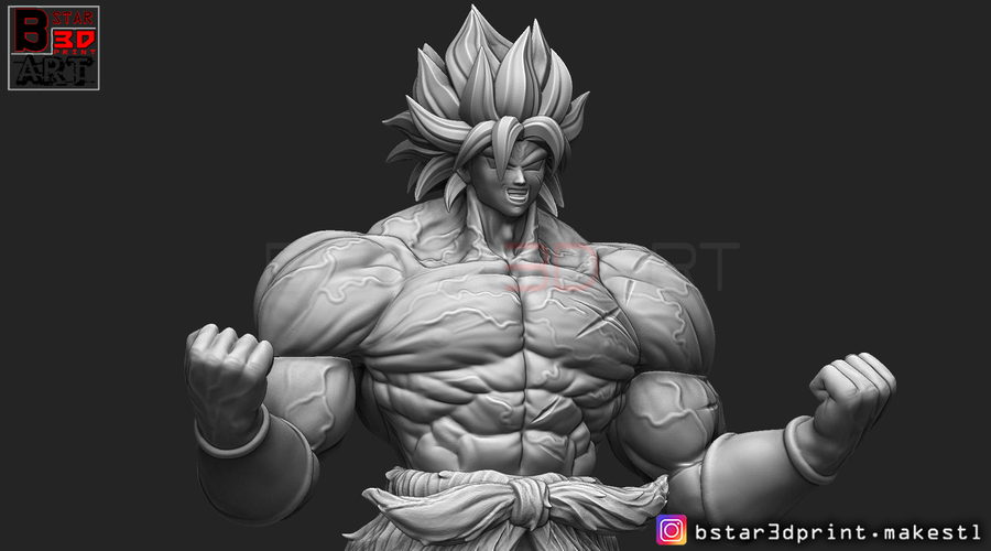 Broly version 01 from Broly movie 2019 3D Print 255429