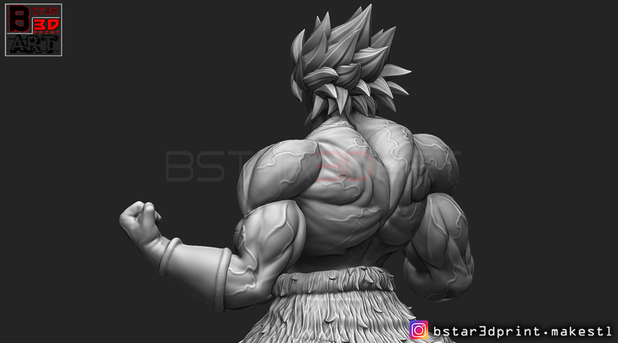 Broly version 01 from Broly movie 2019 3D Print 255430