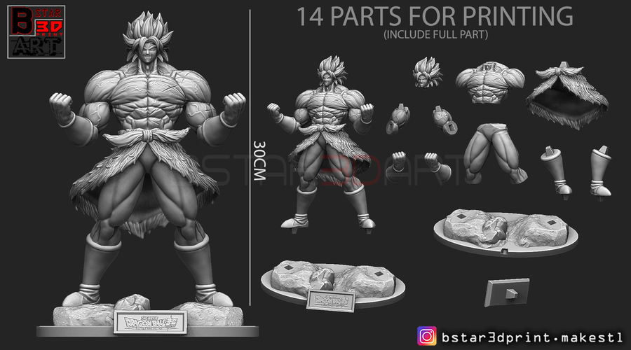Broly version 01 from Broly movie 2019 3D Print 255432