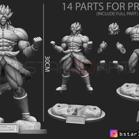 Small Broly version 01 from Broly movie 2019 3D Printing 255432