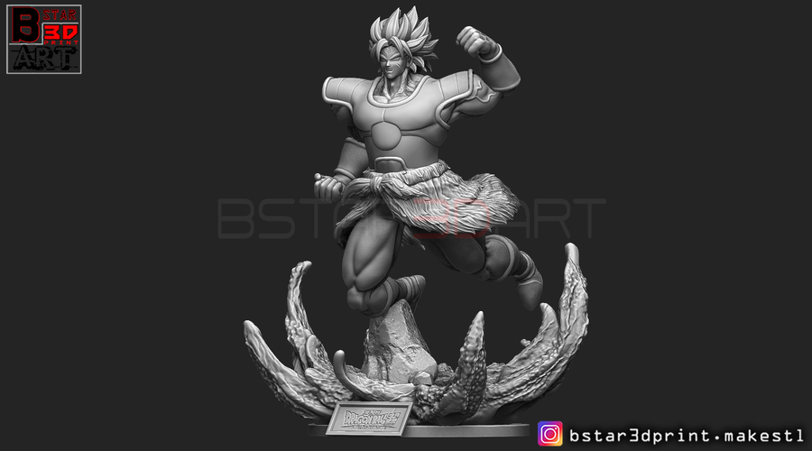 Broly version 02 from Broly movie 2019 3D Print 255433
