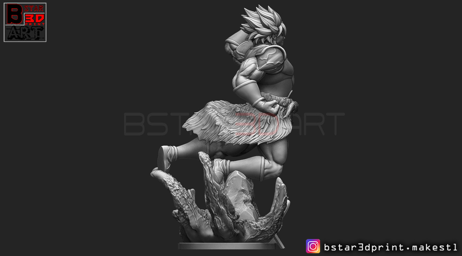 Broly version 02 from Broly movie 2019 3D Print 255438