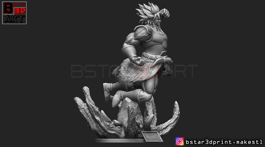 Broly version 02 from Broly movie 2019 3D Print 255439