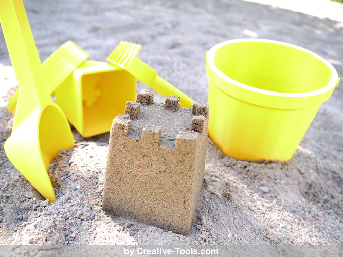 3D-printable sand play set 3D Print 25547