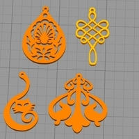 Small Earrings 3D Printing 255548