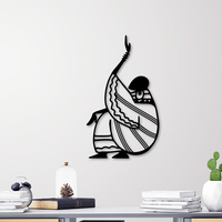 Small AFRICAN WOMAN WALL ART 3D Printing 255595