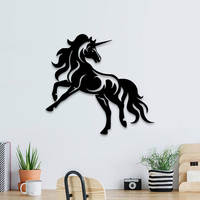 Small Unicorn horse wall decoration  3D Printing 255596