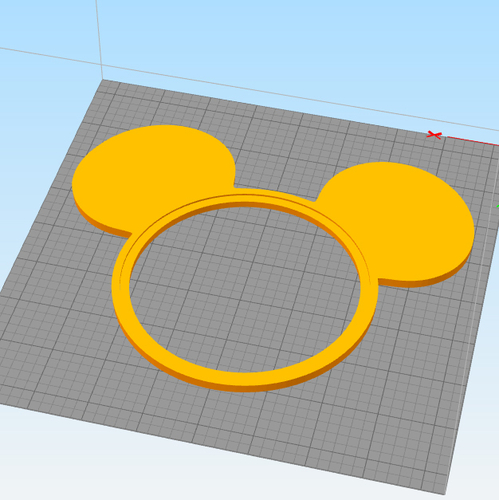 MICKEY PHOTO FRAME FOR KIDS 3D Print 255613
