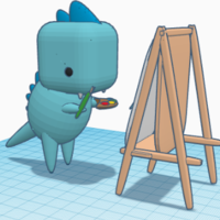 Small dinosaur: paints dinosaur 3D Printing 255630