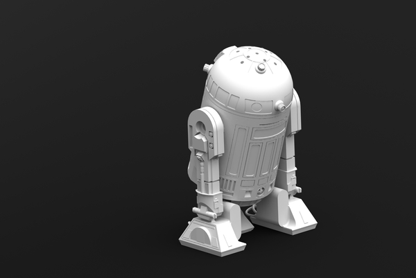 Medium R2D2 Salt and Pepper Shaker 3D Printing 25565